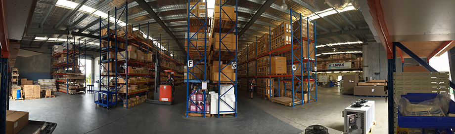 Inside shot of the koldpak warehouse