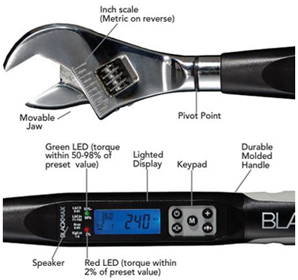 Digital Torque Wrench Features