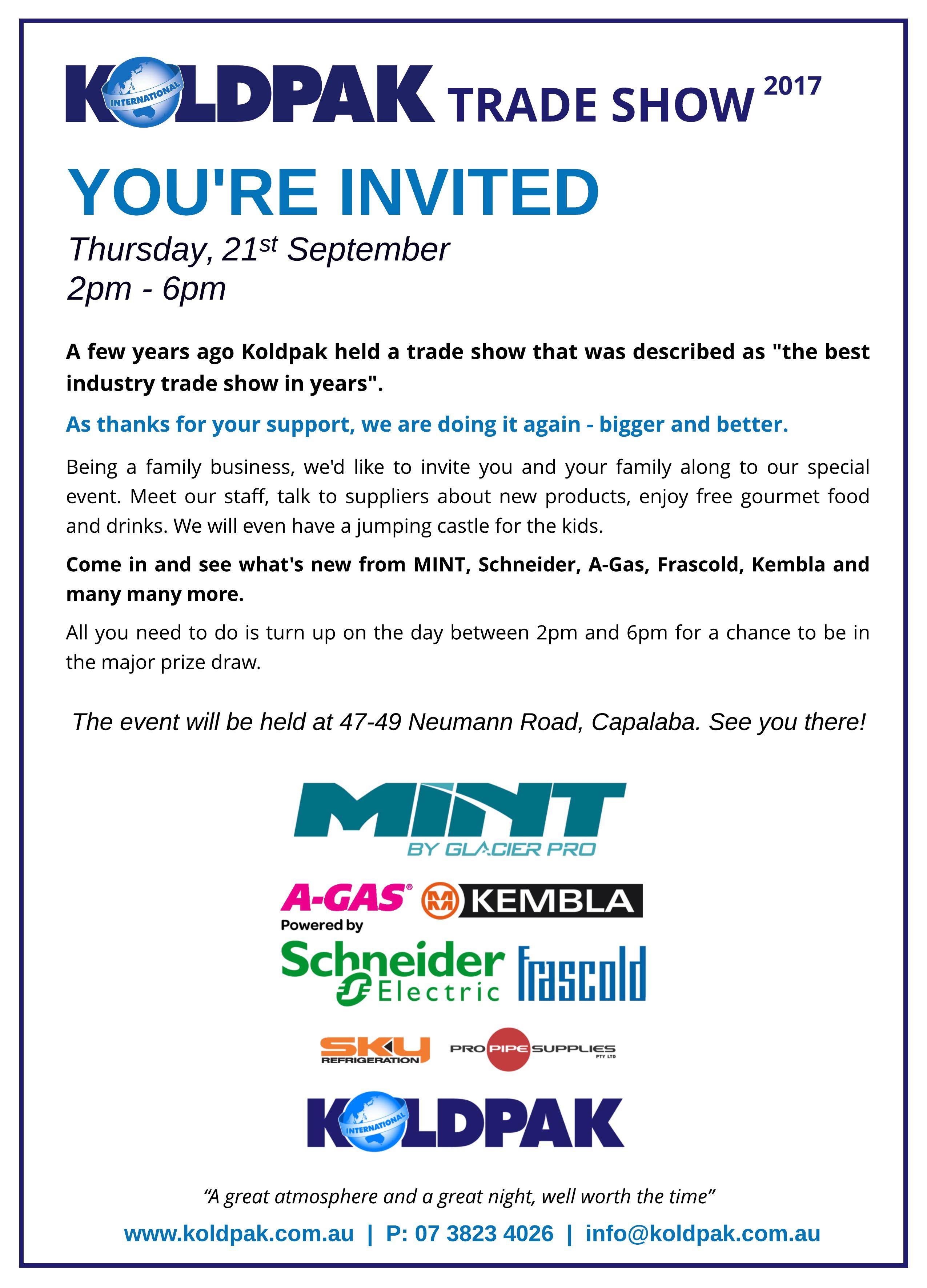 Tradeshow Invitation Koldpak